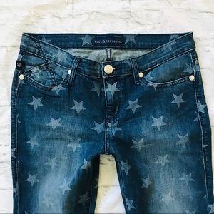 Jeans - ROCK REPUBLIC STAR SKINNY DENIM JEANS HAMBURG 8